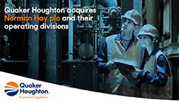 Quaker Houghton Aquires Norman Hay's Divisions